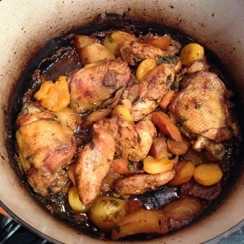 Cocotte de poulet à l'orientale