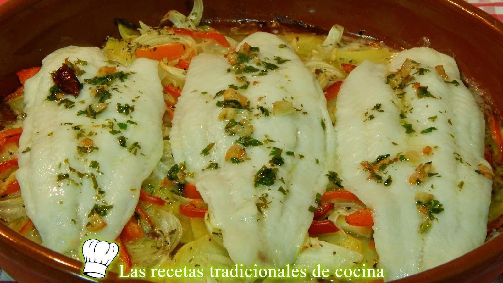 Receta de panga al horno con patatas y pimientos