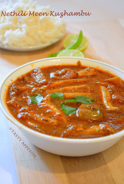 Nethili Meen Kuzhambu / Anchovies Curry / Nethili Meen Curry: