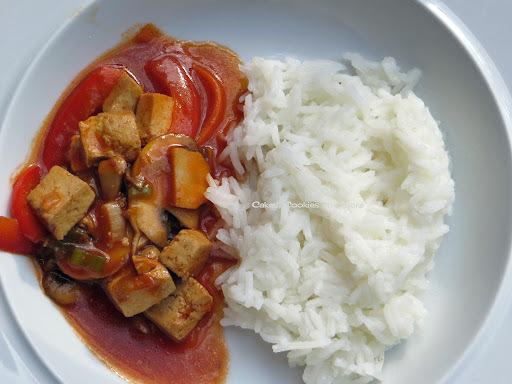Kochen mit Kindern; Tofu Sweet Sour; Rezept