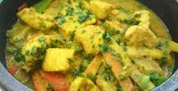 Curry de Peixe na Wok