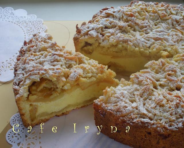 Нежный яблочный пирог с рикоттой-работа над ошибками