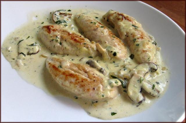 Chicken with Tarragon and Marsala Mushroom Sauce