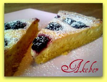 rýchly tvarohový koláč s ovocím