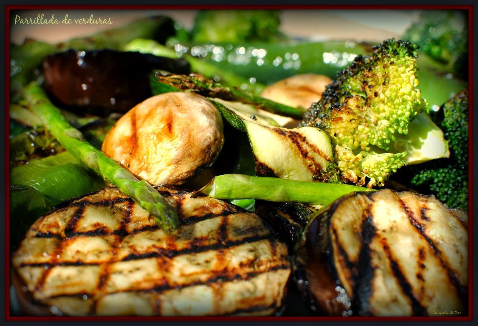 Parrillada de verduras.