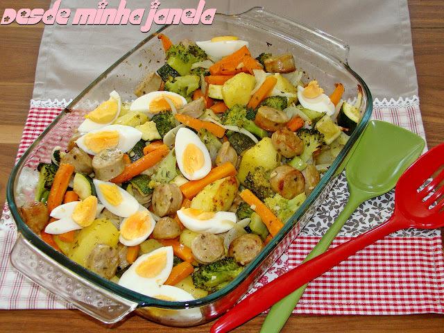 Assado de linguiça com legumes (2)