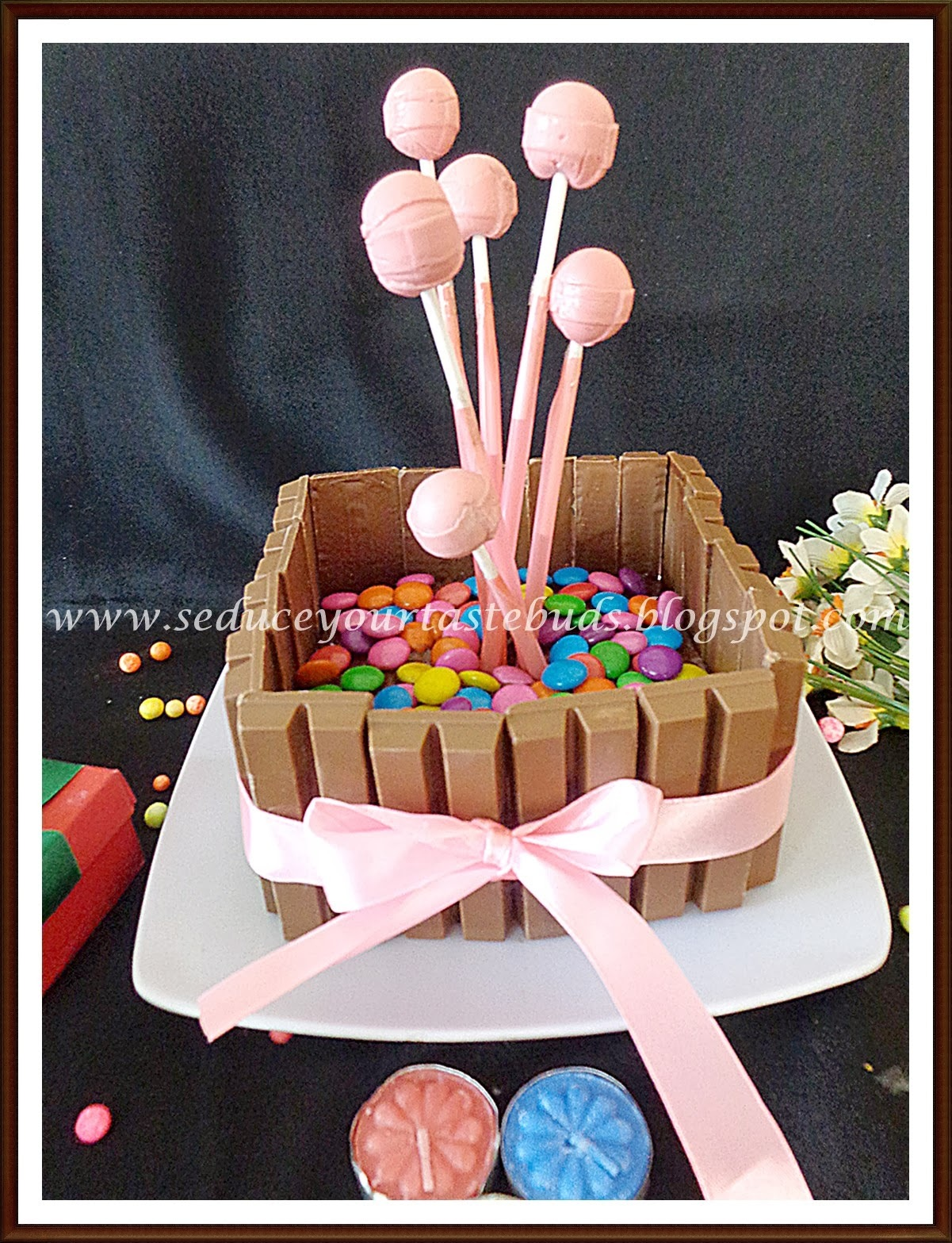 Eggless Kit-Kat Cake for Lil Angel's Birthday....