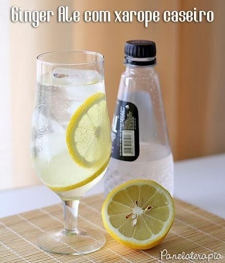 Refrigerante de Gengibre Caseiro (Ginger Ale)