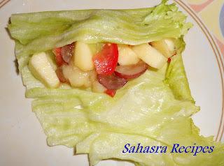 Lettuce Fruit Wraps