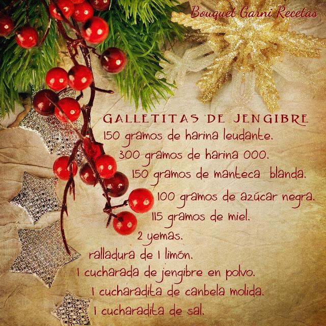 Receta de Navidad. Galletitas de jengibre