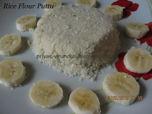 Rice Flour Puttu With Idli Cooker