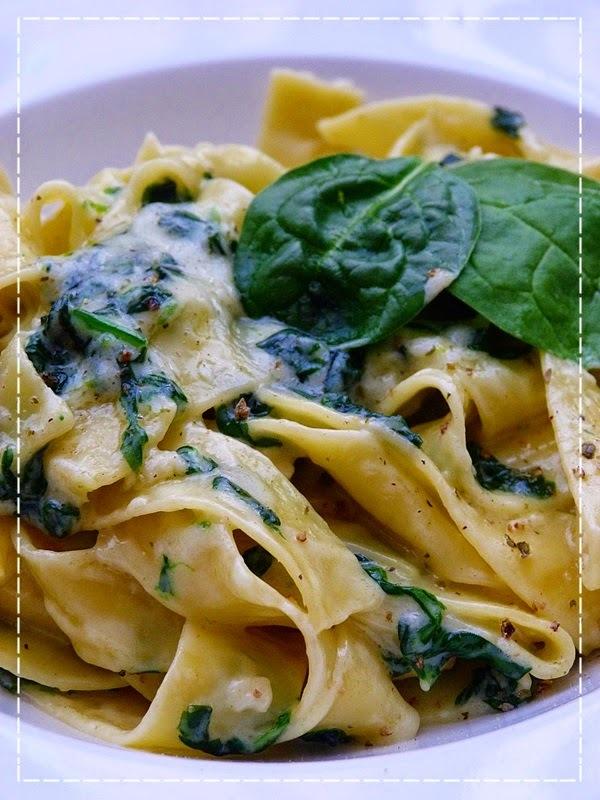 Pappardelle mascarpone e spinaci