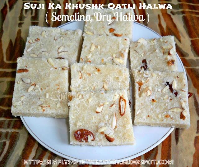 Suji Ka Khushk Qatli Halwa ( Semolina Dry Halwa ), Award and Ramadan Kareem