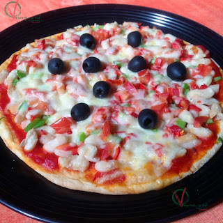 Pizza con judias pochas y chile (SO 88)