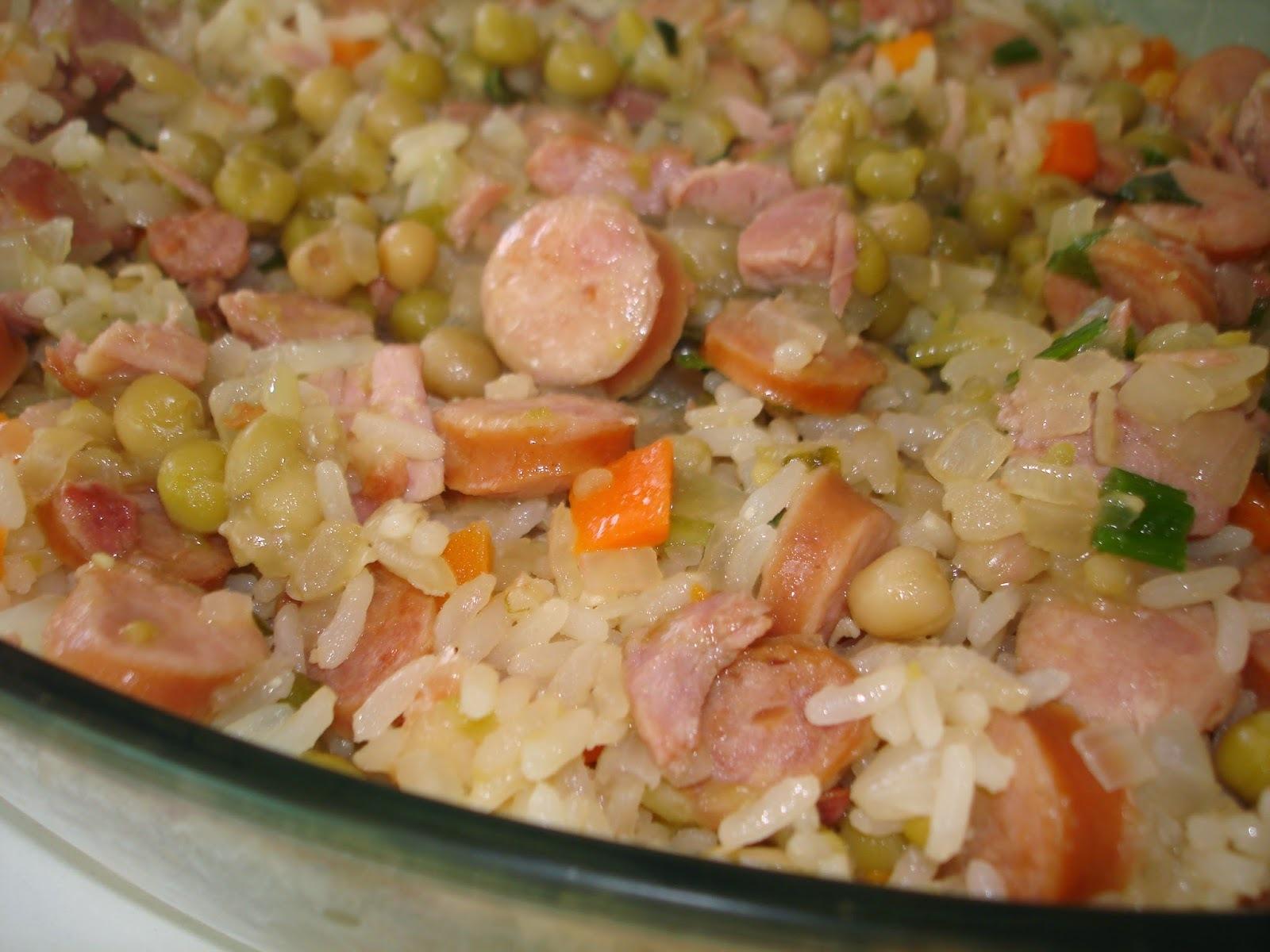 de arroz de forno simples com requeijao