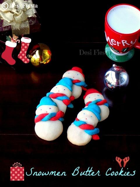 Eggless American Snowmen Cookies