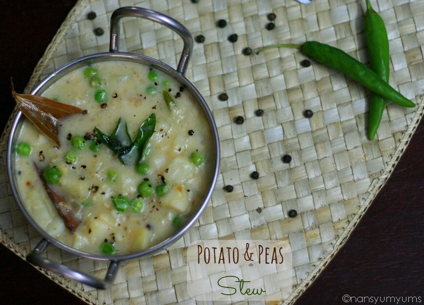 Potato and Green Peas Stew | Simple Vegetable Stew | Ready in 30 mins!