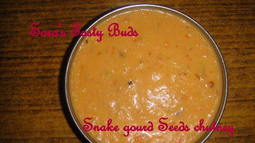 Snake gourd seeds chutney