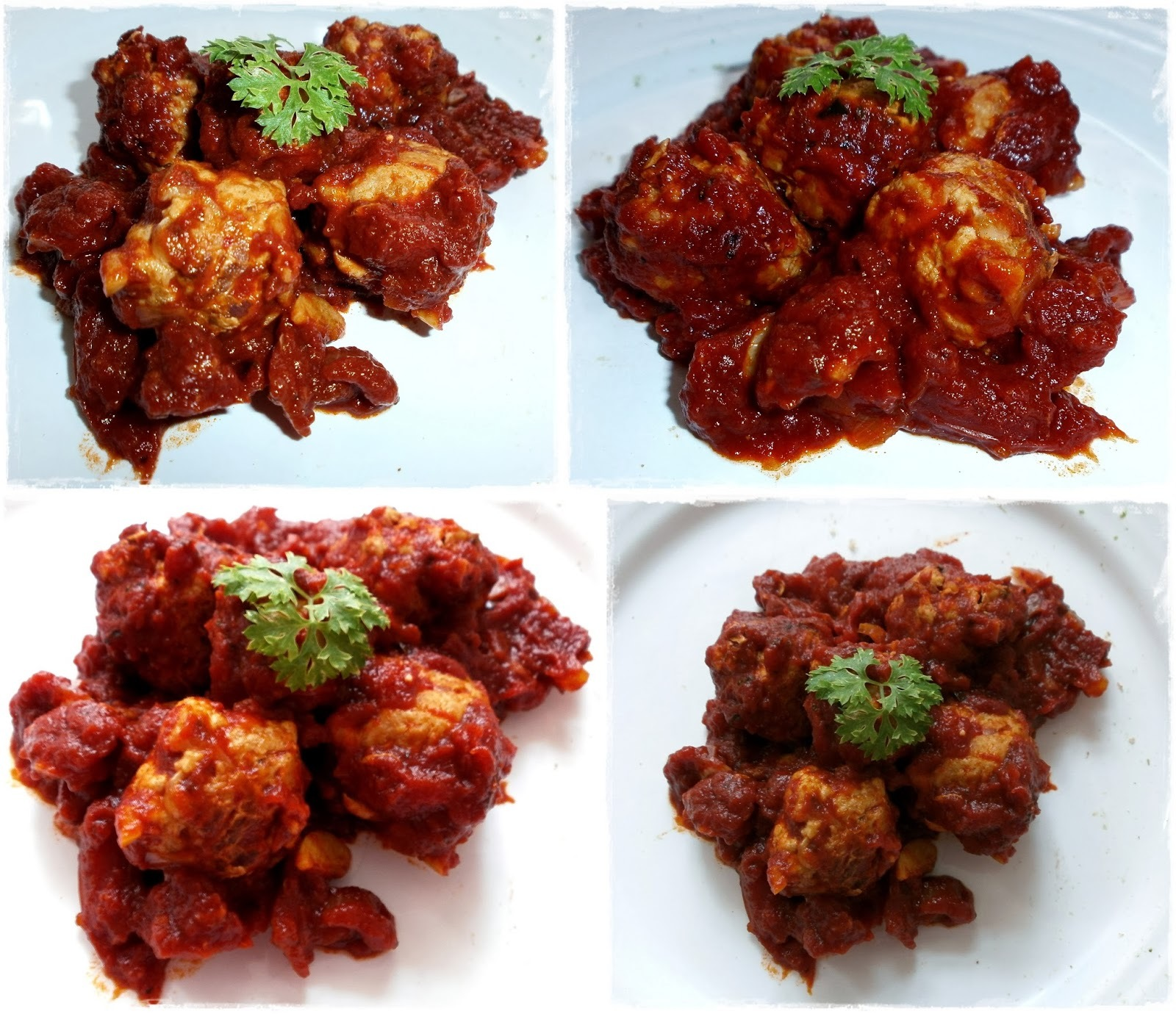 Mäsové guľky v paradajkovej omáčke / Meatballs in tomato sauce
