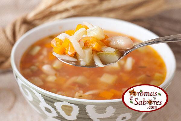 Receita de sopa minestrone