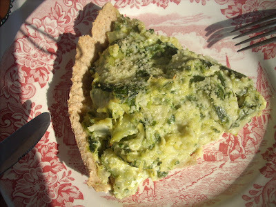 Zucchini and spinach  quiche