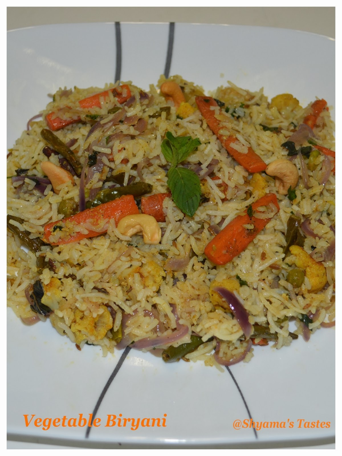 Vegetable Biryani-Layered Style