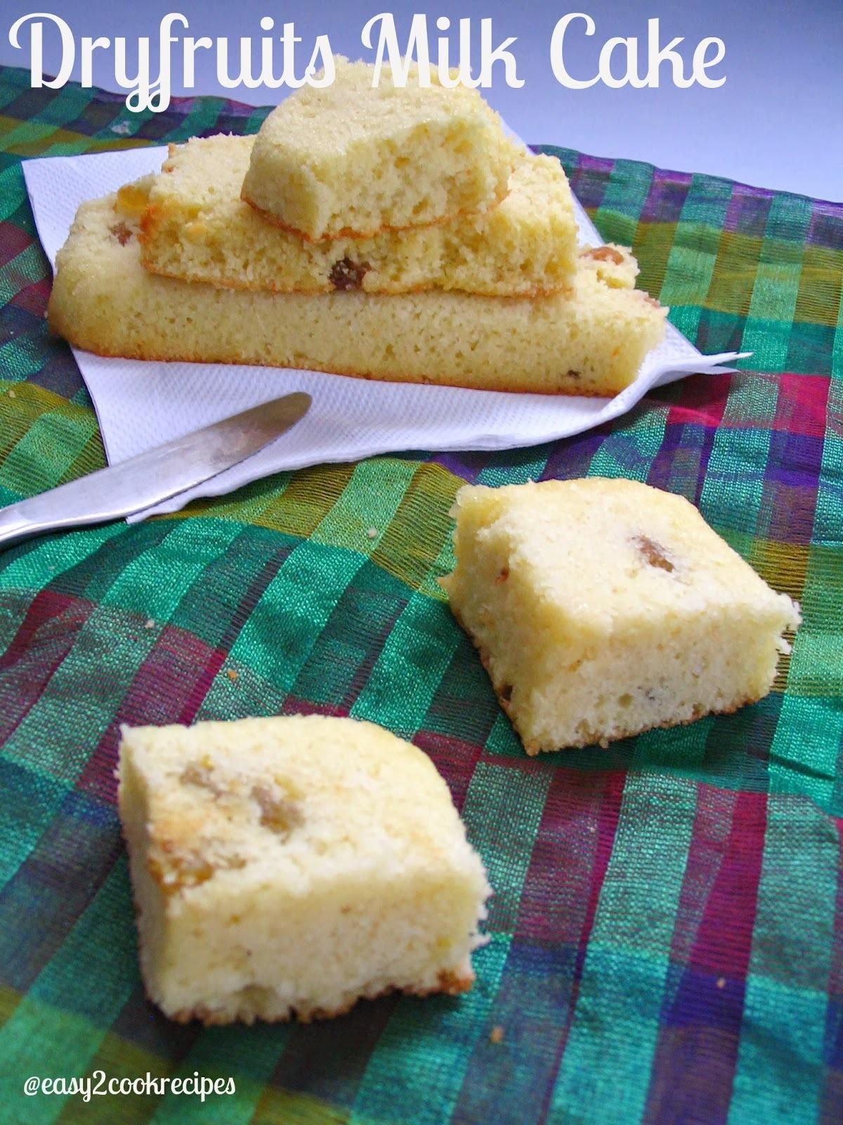 DRYFRUITS MILK CAKE