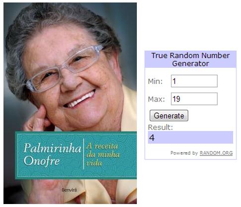 Resultado do sorteio: Palmirinha Onofre - A receita da minha vida