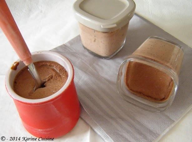 La crème aux oeufs au chocolat