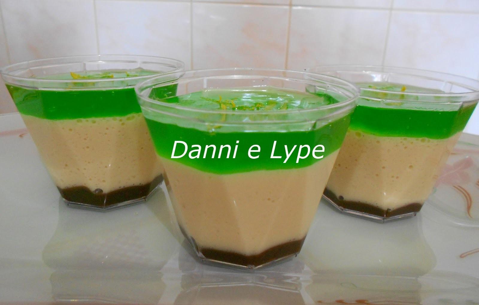 verrine de limão siciliano versão normal e diet