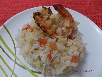 arroz com camarão facil