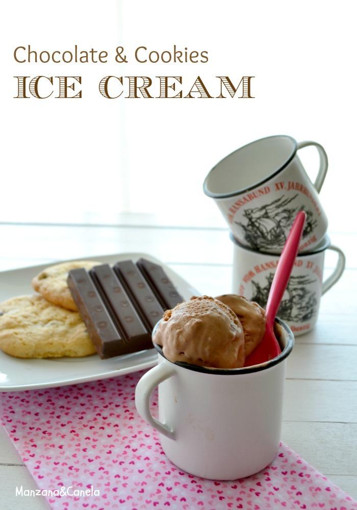 Helado de chocolate con cookies. Abrimos la temporada de helados!