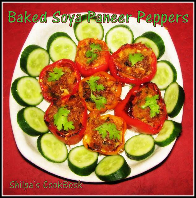 Baked Soya Paneer Peppers