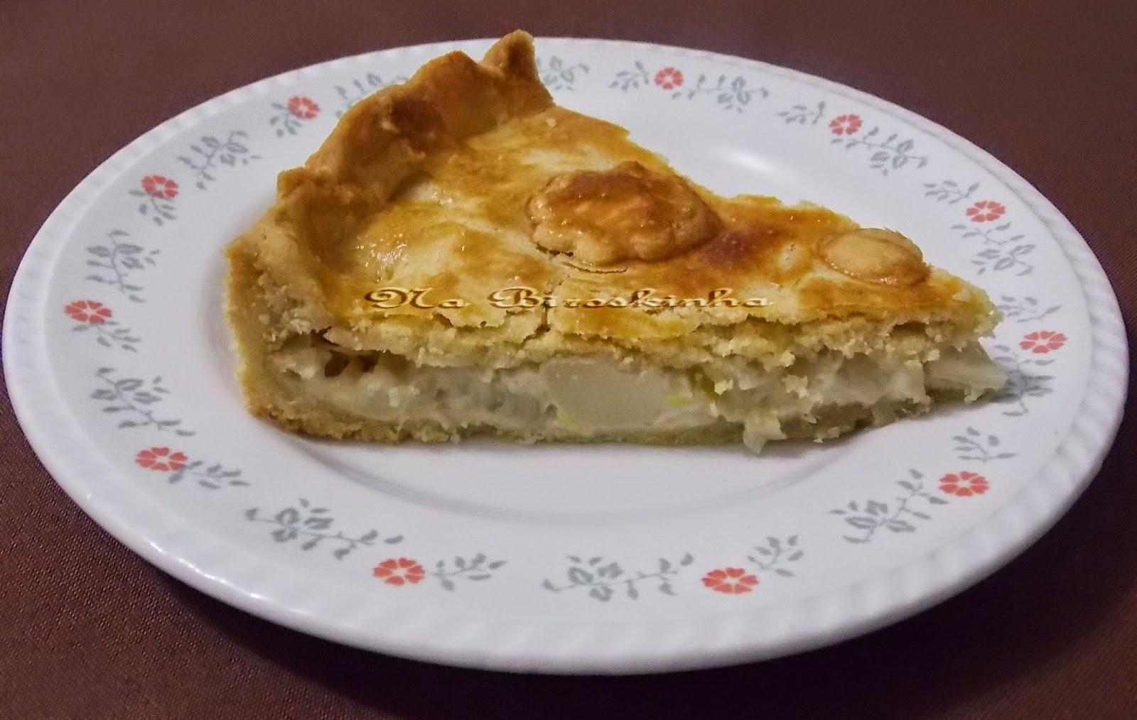 Torta de Palmito e Alho-poró
