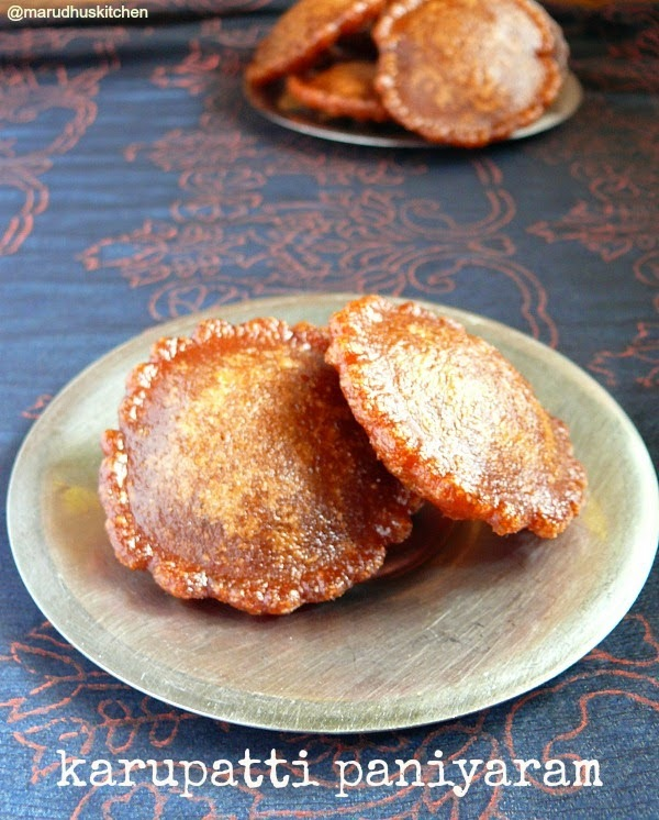 Sweet Rice balls:: Jaggery paniyaram :: Karupatti paniyaram  recipe