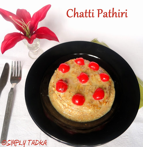 Chatti Pathiri- Kerala Sweet Layered Crepe Recipe