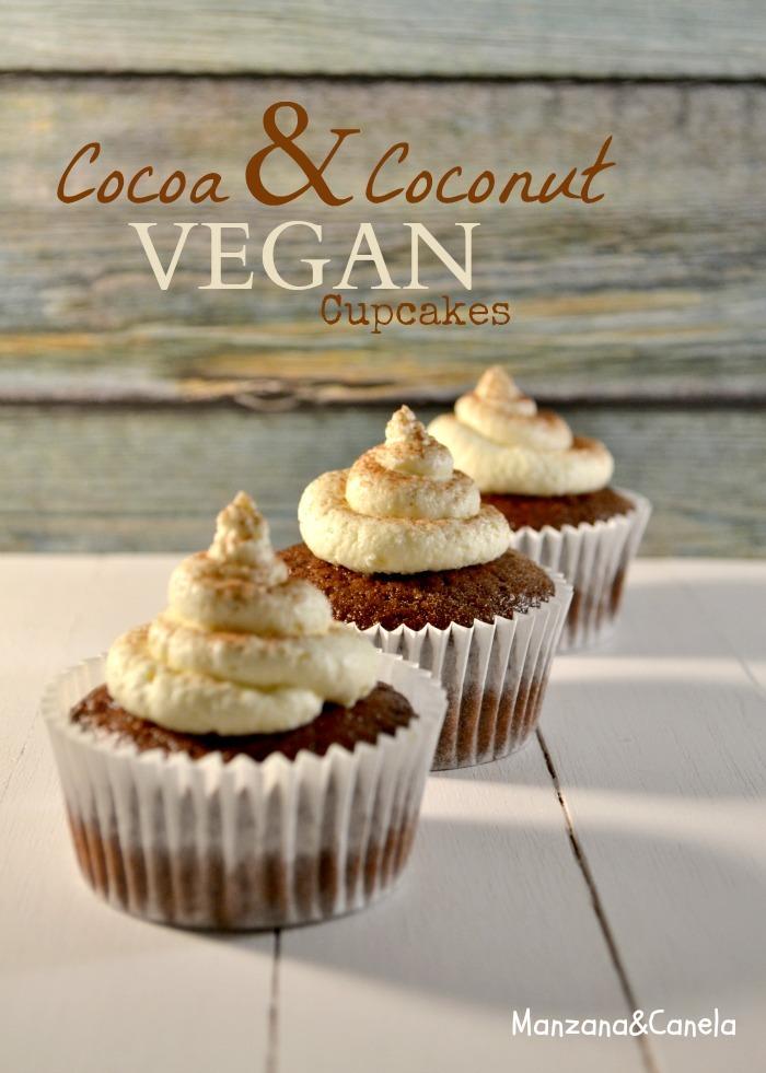 Cupcakes veganos de cacao y coco