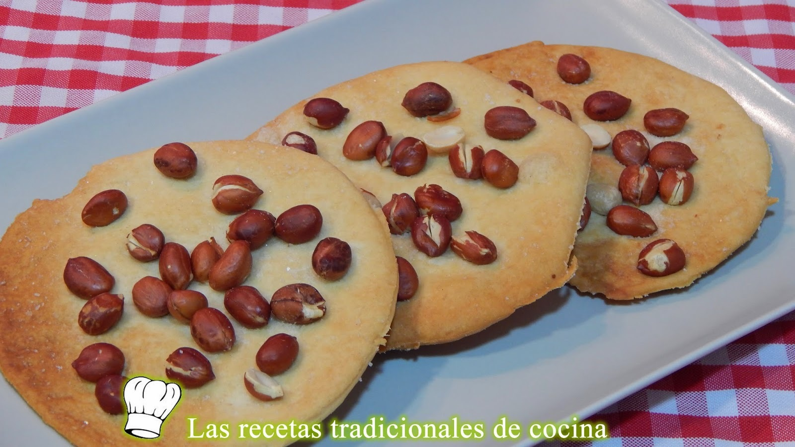 Receta tortas saladas con cacahuetes