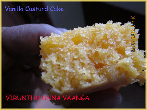 custard cake without egg