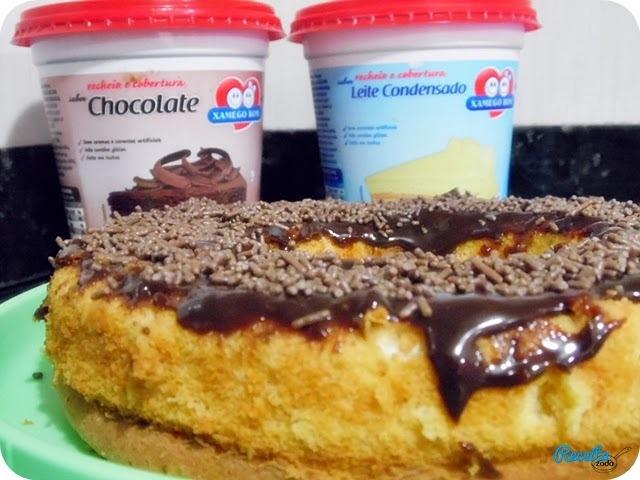 Bolo de Leite Condensado com cobertura de Chocolate {Xamego Bom}