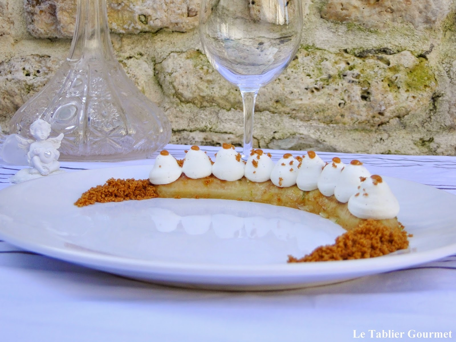 Le dessert de la Saint-Valentin : the banoffee de Christophe Michalak (banane, caramel, spéculoos et creme chantilly) !
