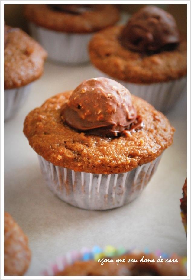dispensa comentários: muffin de nutella com ferrero rocher