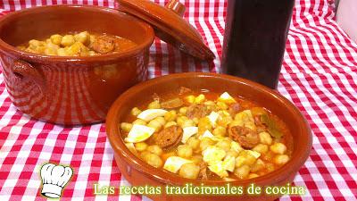 Receta de Garbanzos a la Riojana