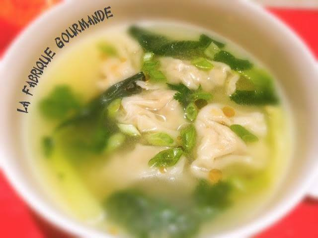 Wonton Soup ou Soupe aux Raviolis Chinois
