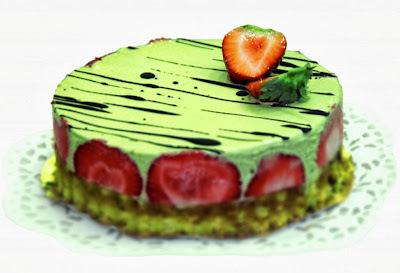 Raw Berry and  Lime Ice Cream Cake Recipe