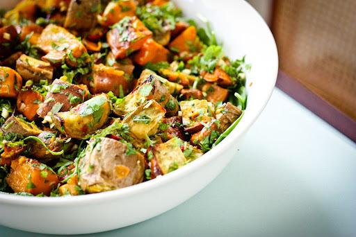 You say Sweet Potato, I say Kumara Salad with Coriander Lime Dressing
