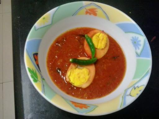 Egg pulusu | kodi guddu pulusu| andhra style egg curry