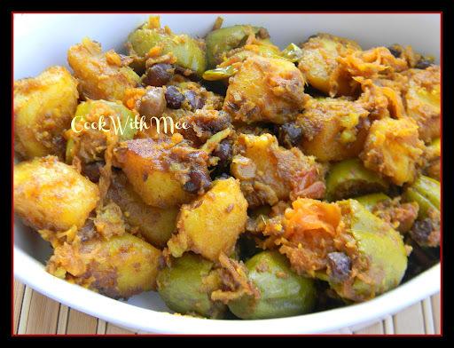 Aloo Kumro patol er Chokka or Potato Pumpkin Curry with Parwal