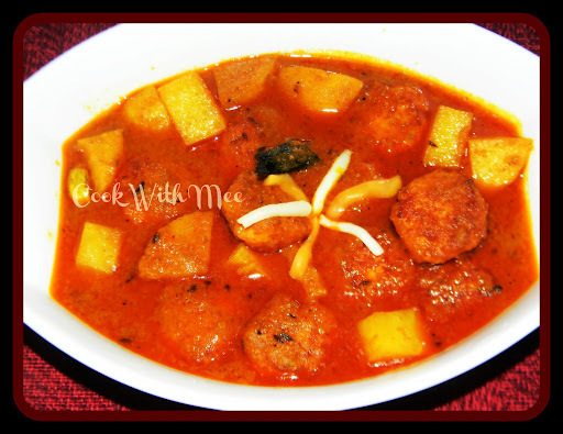 Chanar Dalna or Chena Ball Curry