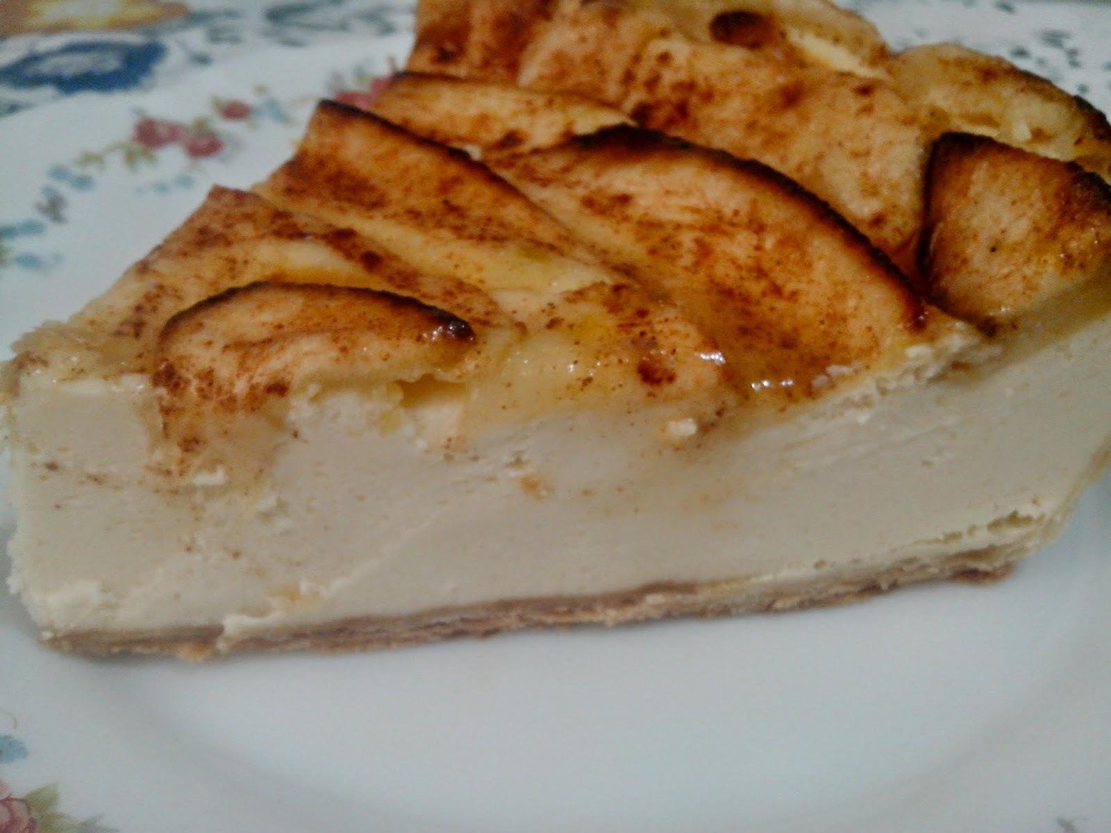 Tarta de Queso y Manzana Sin Azúcar